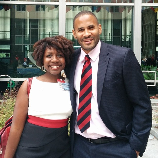 Twanna A. Hines and Tony Sanneh