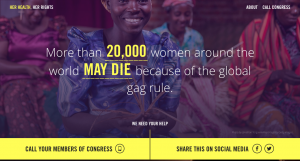 #EndGagNow – Global Gag Rule campaign